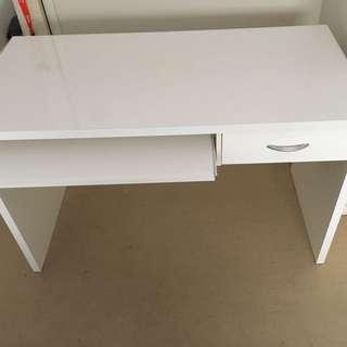 White Laminate Study Desk