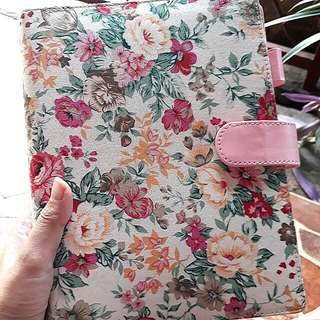 SALE FOR CHARITY Binder Muslima Planner Kulit 6 Ring Bunga