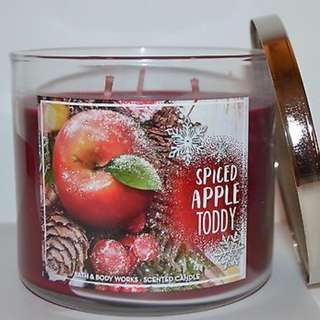 Bath and Body Works Spiced Apple Toddy 3 Wick
