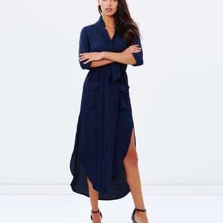 Bardot Long Sleeve Shirt Dress