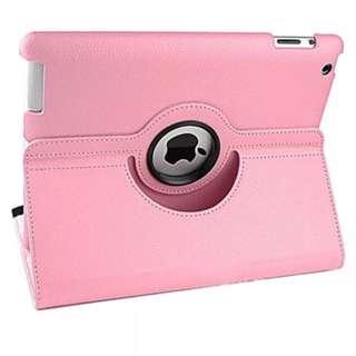 360 Rotating Leather Smart Cover Hardback case Sleep/Wake For Apple iPad 2, 3, 4 Foldable Case Pink