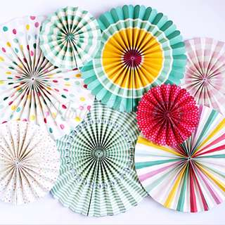 TootSweet Paper Party Fans Decoration