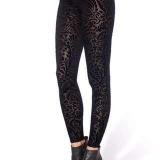 Black Milk Burnt Velvet Leggings