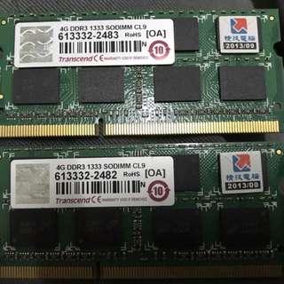 DDR3 4G*2 RAM