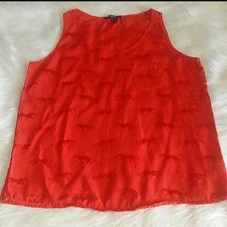 Forever 21 sleeveless with imprints
