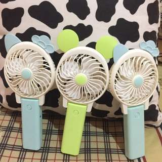 Cartoon Mini Fan ( Mini Fan , Kipas Mini , Kipas Portable , Kipas Powerbank