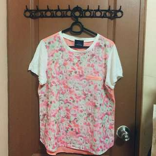 PLAINS & PRINTS pink floral top