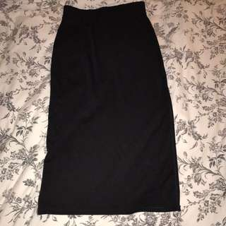 Midi Skirt With Side Slit