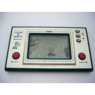 Nintendo Game And Watch Widescreen Popeye 1981 PP-23 NO ORIGINAL BATTERY COVER