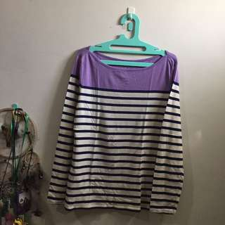 Old Navy Stripes Long Shirt