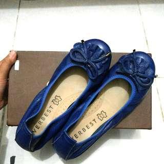 Everbest Navy Flatshoes Free Ongkir