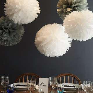 Pom Pom Paper Fan Party Decoration