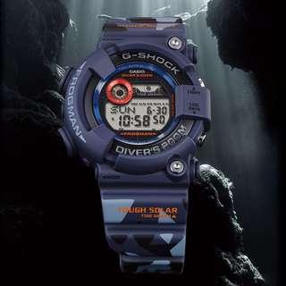 CASIO G-SHOCK Camo FROGMAN GF-8250CM-2 Blue Camouflage New Last Piece