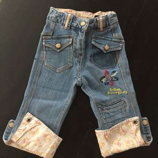 Denim Patched Pants From US