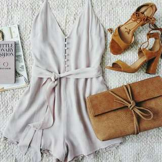 PLAYSUIT DIRTY WHITE