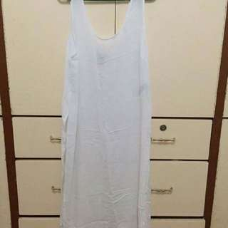 FOREVER 21 Sheer White Dress With Side Slits