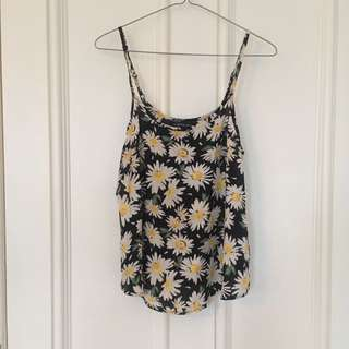 Cotton On Daisy Print Cami - Size XS