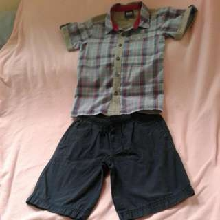 polo and shorts
