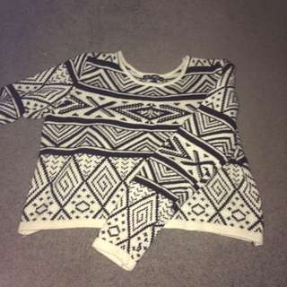 Cropped Patterned Knit