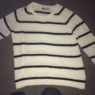 Black & White Stripped Knit