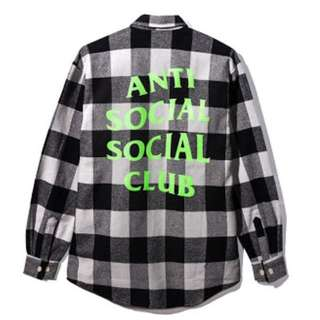 Authentic Anti Social Social Club ACCS Woodman Flannel