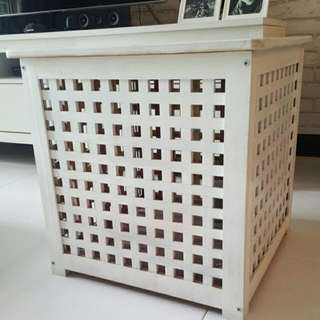 Side Table In White.