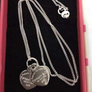 Tiffany and Co Pendant necklace (Rhodium Silver)