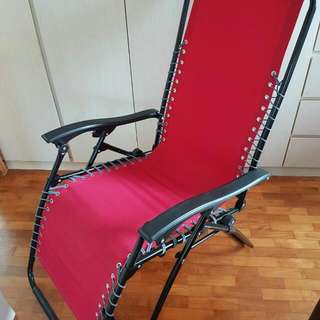 Reclining Foldable Armchair. Very Good Condition. 9/10. Can Recline Further To Sleeping Position