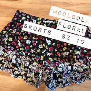 Mooloola Floral Skorts