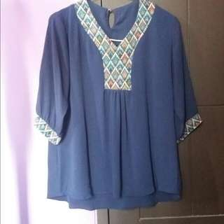 Blue Navy Blouse
