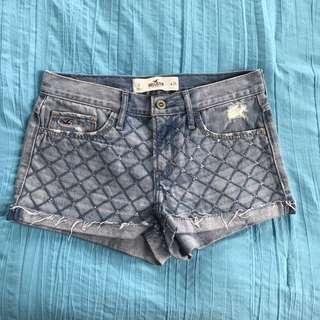 Hollister Blue Denim Diamanté Shorts