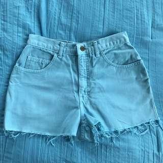 The London Jean Turquoise Denim Shorts
