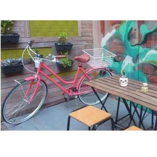 Pink Vintage Bike