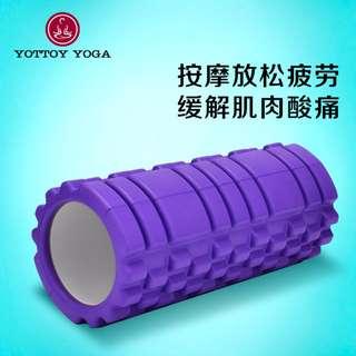 🚚 橡膠泡沫軸 滾筒深度按摩 放鬆肌肉 瑜伽柱 狼牙棒 foam roller 瑜珈軸 健身瘦腿