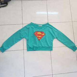 Superman Crop Sweatshirt