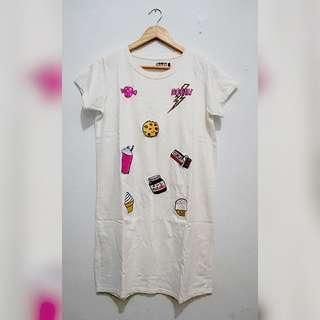 Patches Long Tee Kaos Panjang Bordir Pop Style Lucu Local Brand