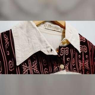 Kemeja Vintage Batik Cutting Edge Bat Sleeve