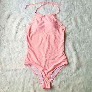 One Piece Pink Scallop Swimsuit