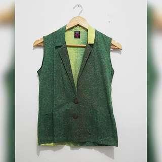 Batik Emboss Two-Tone Vest
