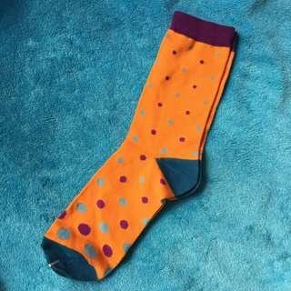 橙色 藍紫波點  中襪 男女合用 夏天 襯波鞋一流 特價 全新