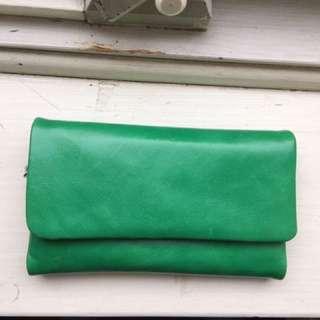 Status Anxiety Audrey Envelope Wallet - Emerald Green