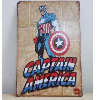 Captain America Tin Plate [T-6]