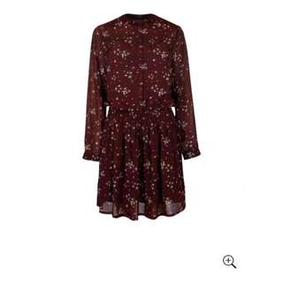 DeCuba Print Waist Dress. Size S