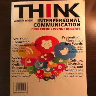 THINK Interpersonal Communication (Canadian Edition)