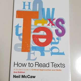 How To Read Texts Neil McCaw
