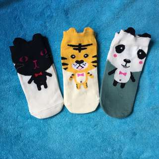 卡通 動物 虎 貓 熊貓 短襪 女 小童 $25@3對包平郵