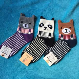 卡通 動物 熊 熊貓 短襪 女 小童 $25@3對包平郵