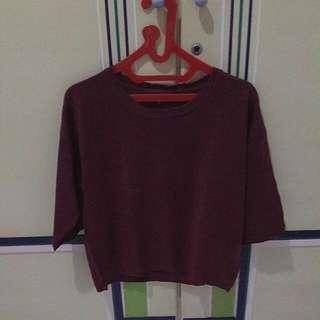 Maroon Knit Tirajeans
