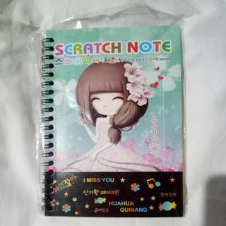 Sale and Repriced! 2pcs Scratch Notebooks
