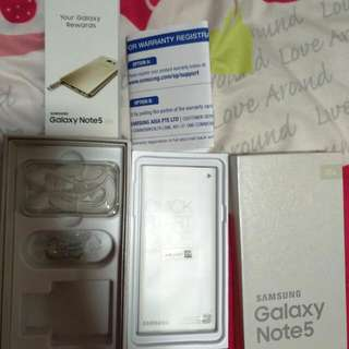 Note 5 Gold With Box